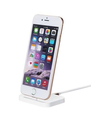 MobilCadde Totu Design Lightning Masaüstü Dock Şarj Aleti Beyaz